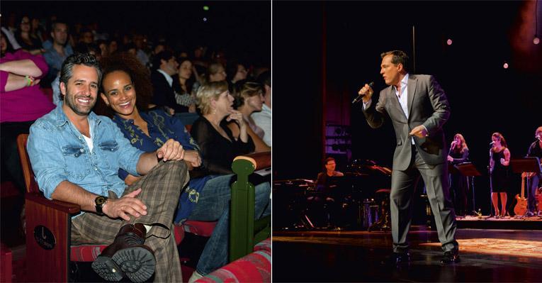 Daniel Boaventura gravou o primeiro DVD e foi aplaudido por Ike Levy e sua musa, Luciana Mello