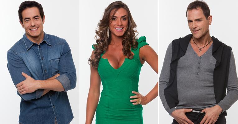 Nicole Bahls, Felipe Folgosi e Sylvinho Blau-Blau estão na Roça