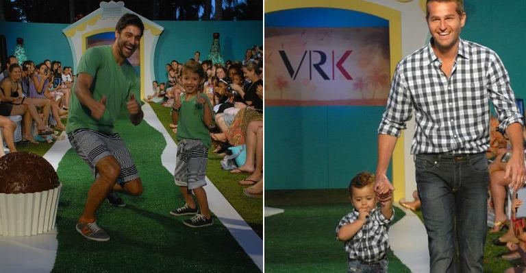 <strong>Victor Pecoraro</strong> e <strong>Afonso Nigro</strong> desfilam com crianças