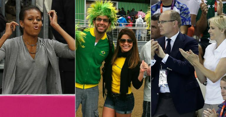 Celebridades marcam presença na Olimpíada de Londres