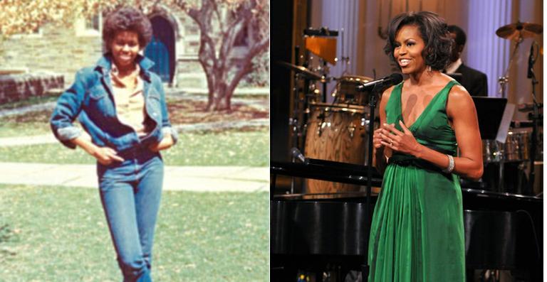 Universidade divulga foto antiga de Michelle Obama