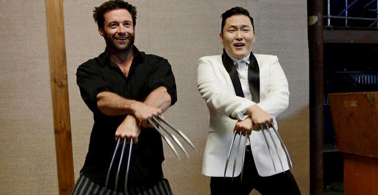 Hugh Jackman dança o hit 'Gangnam Style' com o rapper Psy