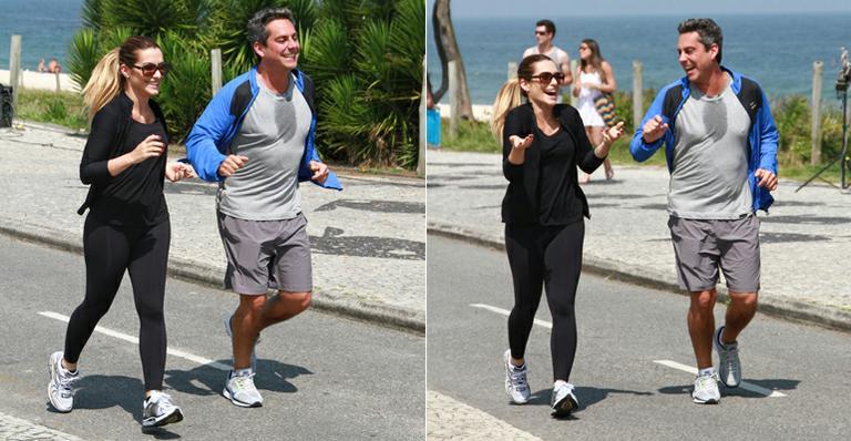 'Salve Jorge': Cleo Pires e Alexandre Nero gravam cena de corrida na praia