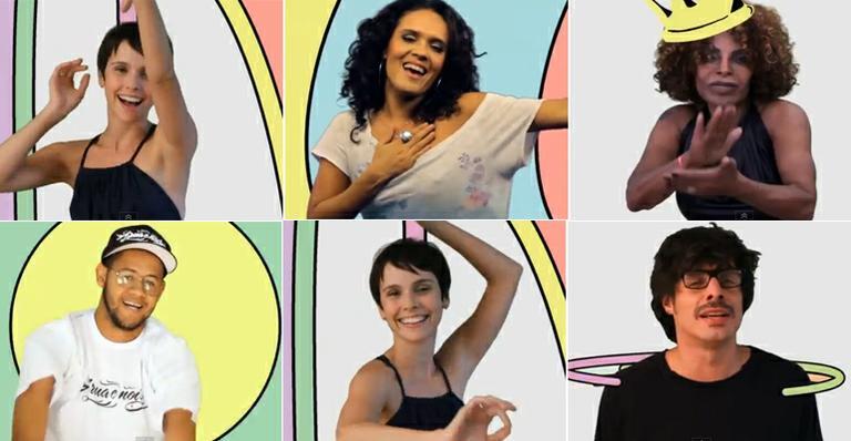 Débora Falabella e outros famosos participam de clipe do Sandália de Prata