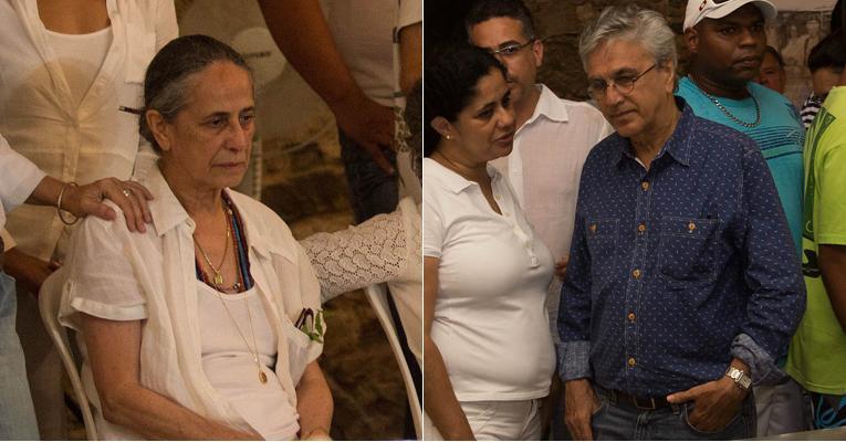 Caetano Veloso e Maria Bethânia velam a mãe Dona Canô na Bahia