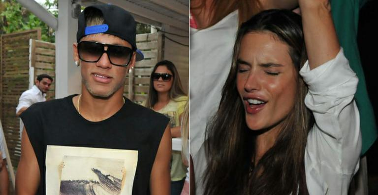 Pré-réveillon: Neymar e Alessandra Ambrosio badalam em Floripa