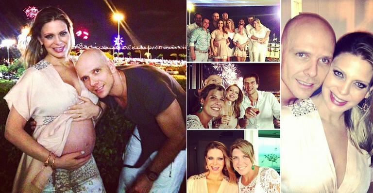 Réveillon familiar de Sheila Mello e Fernando Scherer, o Xuxa, em Florianópolis