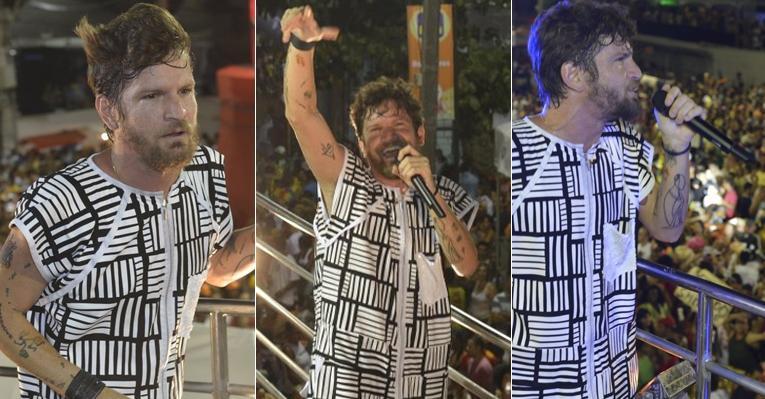Saulo Fernandes se emociona ao iniciar último Carnaval como líder da Banda Eva
