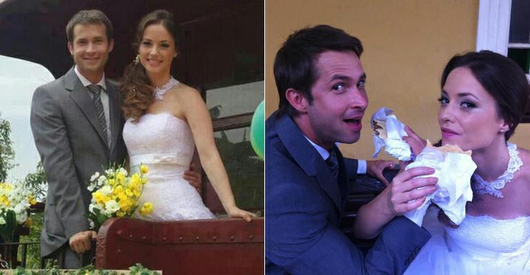 Professora Helena (Rosanne Mulholland) e Renê (Gustavo Wabner) se casam no último capítulo de 'Carrossel'