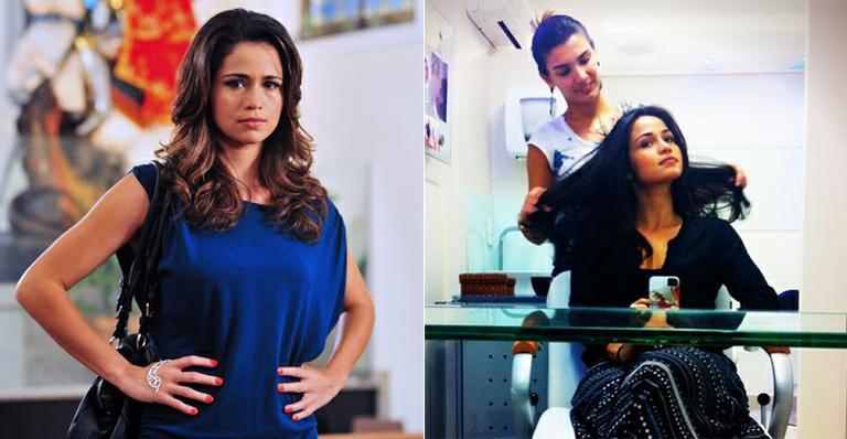 Nanda Costa muda o visual e escurece os cabelos