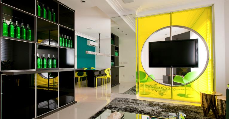 decoracao alternativa de casas : decoracao alternativa de casas:Apartamento multifuncional vira 'casa de praia' no fim de semana