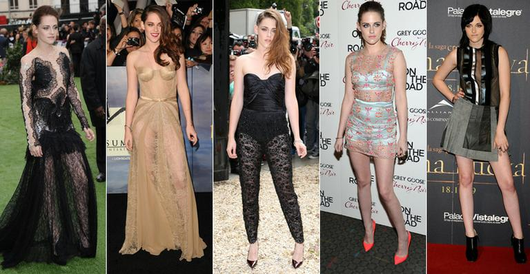 As transparências nos looks de Kristen Stewart