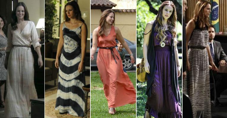 Foto: Paloma (Paolla Oliveira) investe em vestidos longos / Crédito: TV Globo