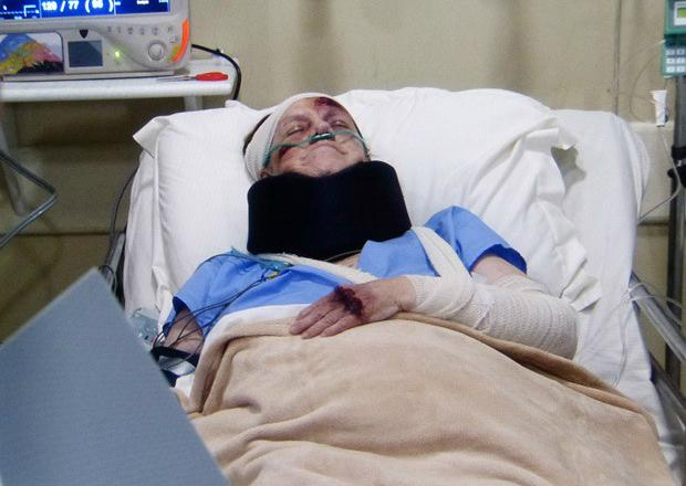 Foto: Ciça sobrevive após queda de penhasco / Crédito: TV Globo