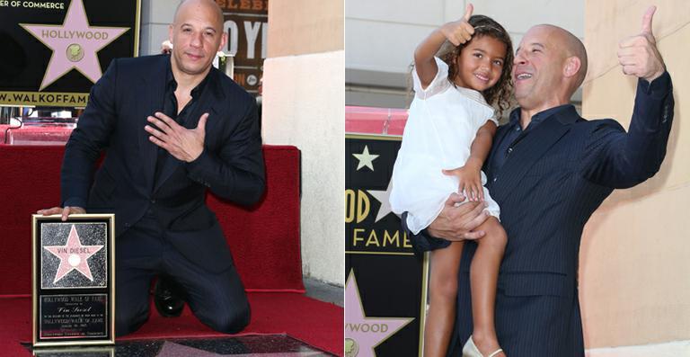 Vin Diesel recebe estrela na Calçada da Fama de Hollywood
