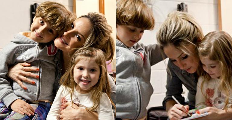 Foto: Filhos de Claudia Leitte e Daniel visitam bastidores do The Voice Brasil / Crédito: Fabiano Battaglin/TV Globo