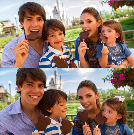 Luca e Isabella, filhos de Kaká e Carol Celico (AgNews/Instagram) Jakelyne Oliveira Kaka