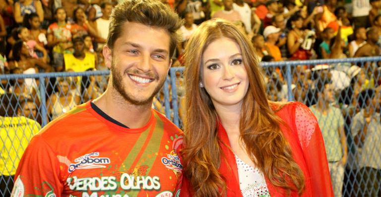 Marina Ruy Barbosa e Klebber Toledo caem no samba