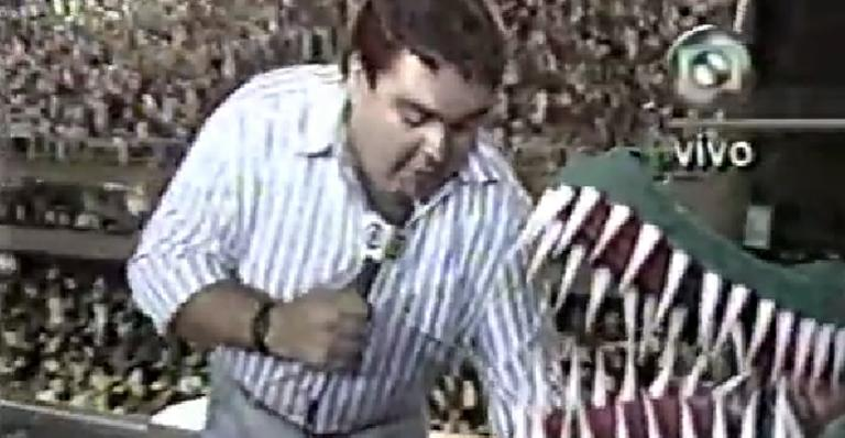 Faustão entrevistou 'jacaré' durante Carnaval de 1989; relembre