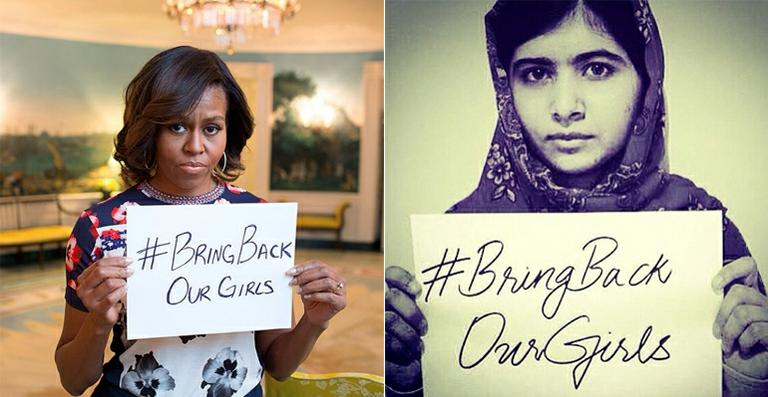Michelle Obama apoia campanha de Malala pela Nigéria