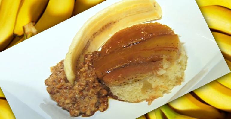 Torta de banana com a famosa paçoca cremosa. Irresistível!
