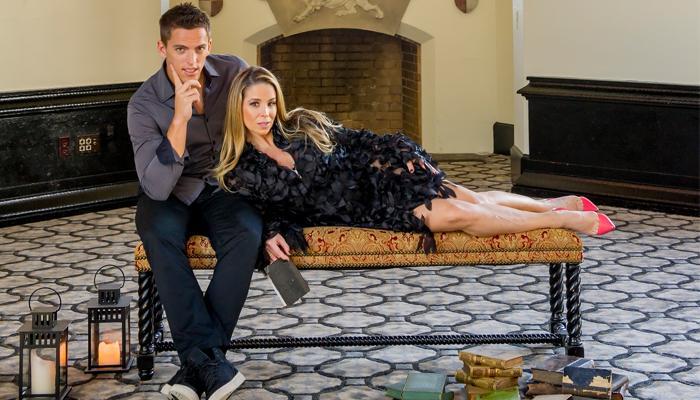Danielle Winits e Amaury no Castelo de CARAS