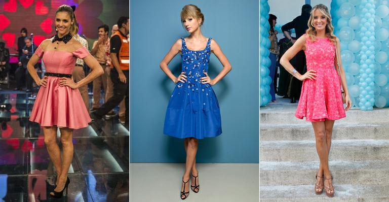 Inspire-se no visual das famosas e aprenda a usar vestido evasê, que valoriza a silhueta