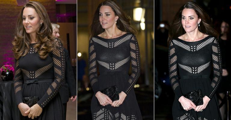 Kate Middleton usa vestido de R$ 2 mil que evidencia barriga de grávida