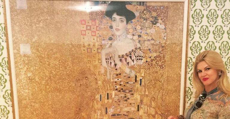 Ela foi ao museu conferir a obra 'Woman in Gold'