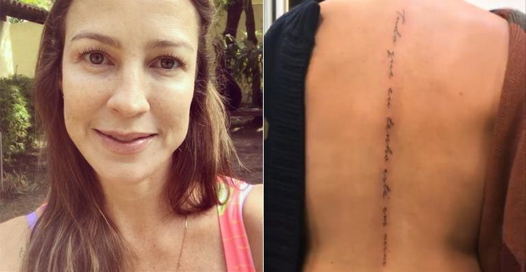 Luana Piovani faz nova tatuagem nas costas