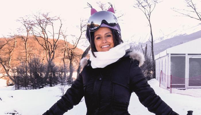 Amanda de Godoi visita Ushuaia, na Argentina