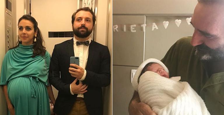 Nasce a primeira filha de Gregorio Duvivier e Giovanna Nader