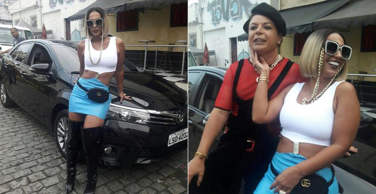 Valesca Popozuda grava seu novo clipe na Vila Mimosa