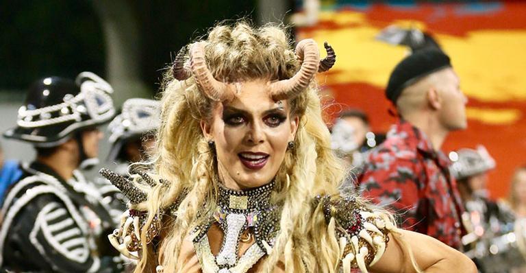 Fantasia era ousada e dançarina enfrentou problemas ao desfilar na Independente Tricolor