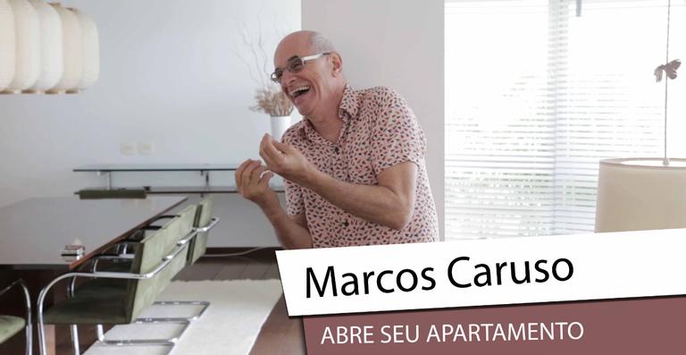 Marcos Caruso abre seu apartamento e faz bate papo exclusivo com a CARAS