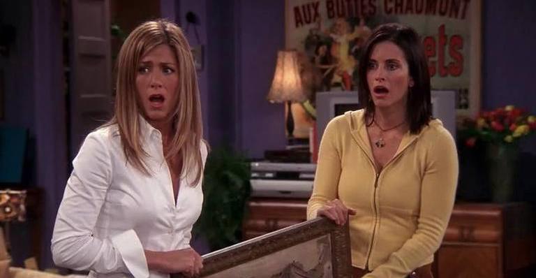 As atrizes fizeram as famosas amigas Rachel Green e Monica Geller em Friends