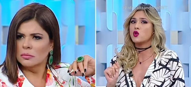 Mara Maravilha alfineta Lívia Andrade no programa Silvio Santos