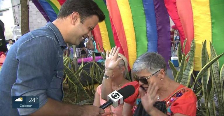 Casado, jornalista da Globo recebe cantada na Parada LGBT