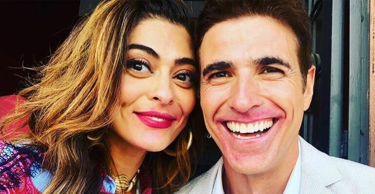 Reynaldo Gianecchini admira beleza de Juliana Paes em vídeo