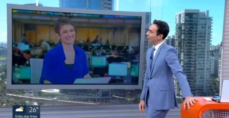 Após saída de Sandra Annenberg do 'Jornal Hoje', César Tralli se despede