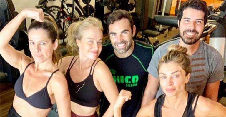 Huck, Angélica, Grazi e Ingrid Guimarães na academia? Tá tendo!