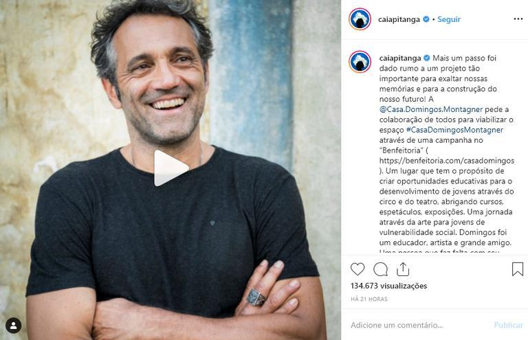 Camila Pitanga homenageia Domingos Montagner