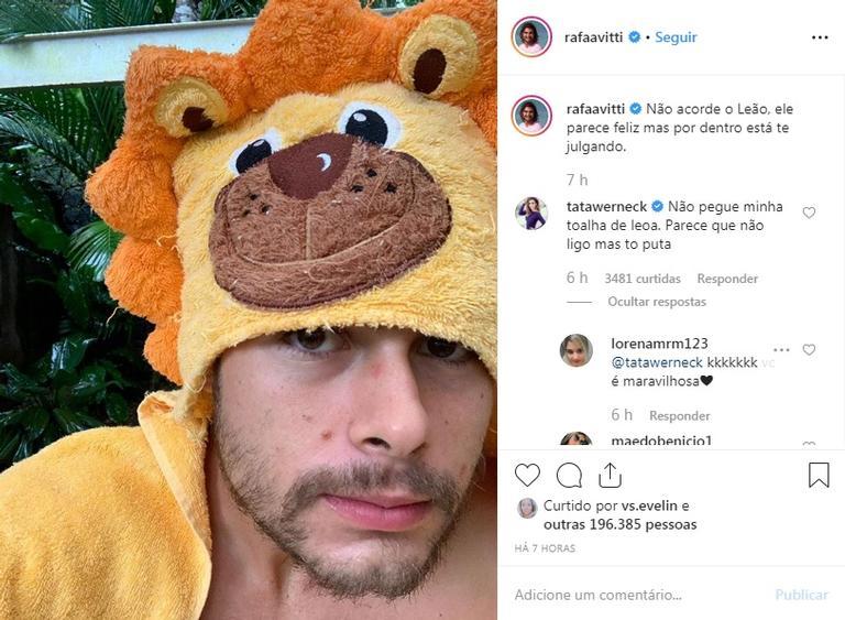 Tatá Werneck se irrita com Rafael Vitti