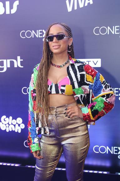 Anitta em evento da Globosat