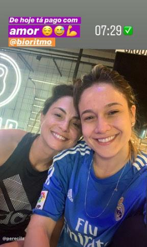 Fernanda Gentil e Priscila Montandon na academia