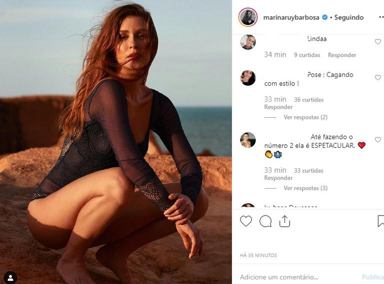 Marina Ruy Barbosa pose selvagem