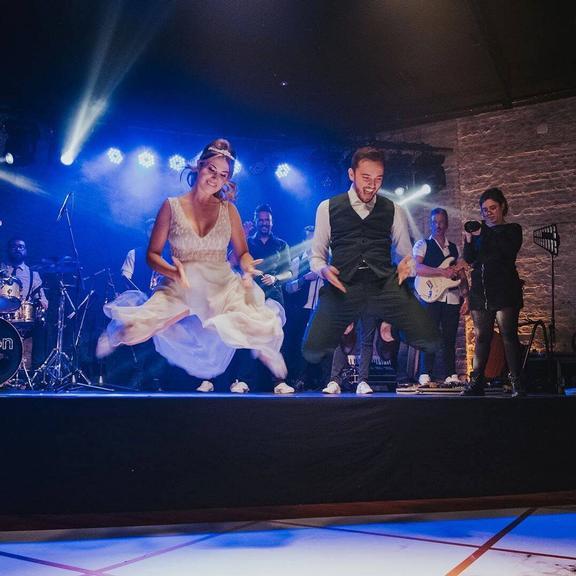 Fabi Santina se casa com Leandro Munhós
