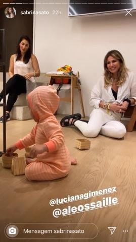 Filha Sabrina Sato, Zoe Sato, com Luciana Gimenez