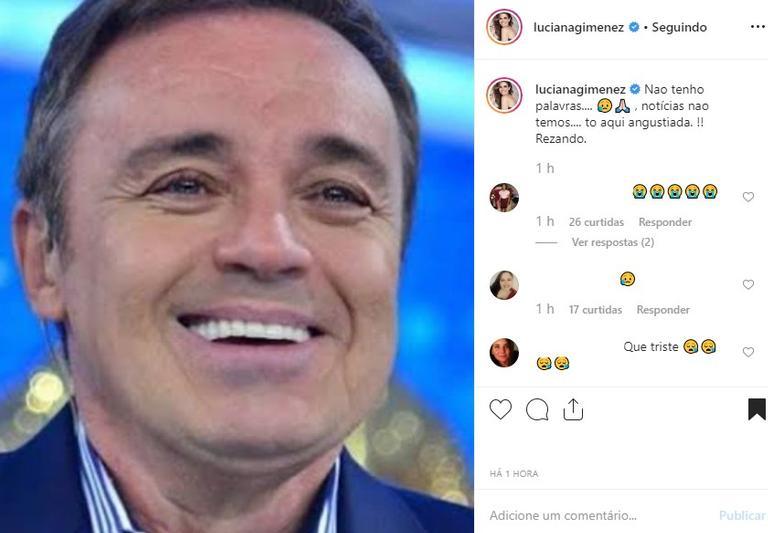 Luciana Gimenez se desespera por causa de Gugu Liberato