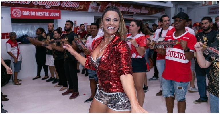 Viviane Araújo arrasa em ensaio da Salgueiro e mostra samba no pé; confira